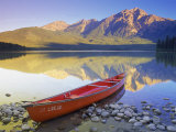 Canoe on Pyramid Lake Photographic Print by Kevin Law