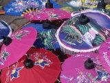 Handpainted Umbrellas, Chiang Mai, Thailand Photographic Print by Elizabeth DeLaney