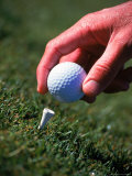 Placing Golf Ball on Tee, Keystone, CO Photographic Print by Bob Winsett