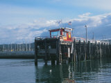 Red Fishing Wharf, CA Photographic Print by Claire Rydell