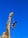 Woman Rock Climbing, Joshua Tree National Park, CA Photographic Print by Greg Epperson