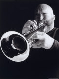 Man Blowing Trumpet Photographic Print by Howard Sokol