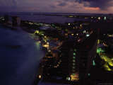 Cancun, Mexico at Night Photographic Print by Angelo Cavalli