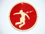 Electrocution Danger Sign Photographic Print by Barry Winiker