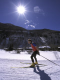 Cross-Country Skate Skier, CO Photographic Print by Kevin Beebe