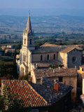 Aerial of Church, Provence, France Photographic Print by Ken Glaser