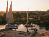 Feluccas on the Nile River Photographic Print by Walter Bibikow