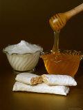 Honey Nougat Nutrition Bars on Table Fotografie-Druck von Chris Rogers