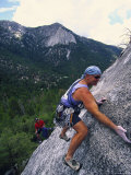 Rock Climbing, Suicide Rock, CA Photographic Print by Greg Epperson