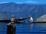 Fishermen, Inle Lake, Burma Photographic Print by Sandy Ostroff