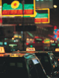 Taxi Cab Line, Hong Kong, China Photographic Print by John Coletti
