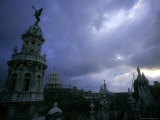 Downtown with Stormy Skies, Havana, Cuba Photographic Print by Tim Lynch