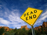 Road Sign, Dead End Photographic Print by James Lemass