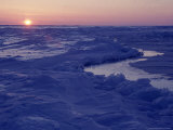 Sunset at Floe Edge, Late Winter Photographic Print by Yvette Cardozo