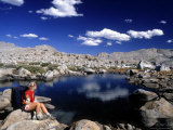 Hiker, Sierra Nevada Range, CA Photographic Print by Mitch Diamond