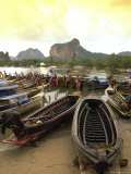 Fishing Boats, Krabi, Thailand Photographic Print by Kevin Law