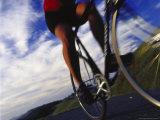Person Riding Bicycle, Mt. Tamalpais, CA Fotoprint van Robert Houser