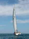 Sailboat Race, Pt Huron to Mackinac Island, MI Photographic Print by Dennis Macdonald