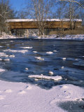 Snow Covered Bridge Over Shanandoah River Photographic Print by Tom Dietrich