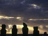 Moai at Ahu Tongariki, Easter Island, Chile Photographic Print by Angelo Cavalli