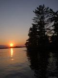 Lake During Sunset Stampa fotografica di Keith Levit