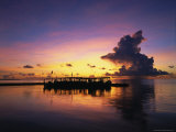 Sunset, Ari Atoll, White Sands Island and Resort Photographic Print by Angelo Cavalli