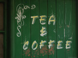 Tea and Coffee Sign, London, England Stampa fotografica di Keith Levit