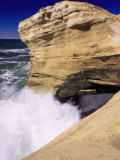 Crashing Surf, Cape Kiwanda, Pacific City, OR Photographic Print by Donald Higgs