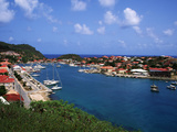 Aerial View of Gustavia Port, St. Barts, FWI Photographic Print by Bill Bachmann