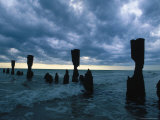 Dark Sky and Broken Pillars, Naples, FL Photographic Print by Robin Hill