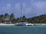 Daytrip Catamaran, Tobago Cays, Grenadines Photographic Print by Reid Neubert