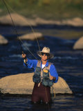 Man Fly Fishing, Animas River, CO Photographic Print by Amy And Chuck Wiley/wales