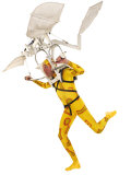 Man in a Flying Machine with Yellow Suit Photographic Print by Jim McGuire