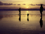 Family with Dog at Sunset, Cape Sebastian, OR Photographic Print by Jim Corwin