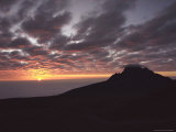 Sunrise Above Clouds at 5000 Meters, Mt. Kilimanja Photographic Print by Keith Levit