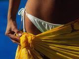 Mexican Woman with Swimwear Photographic Print by Mitch Diamond