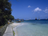 Harbor and Sidewalk, Bequia, Grenadines Photographie par Reid Neubert