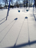 Swings Among Snow Photographic Print by Dennis Macdonald