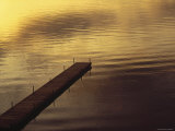 USA, Vermont, Dock on Lake Photographic Print