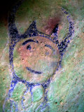 Leo Petroglyph, Indian Rock Art Photographic Print by David M. Dennis
