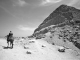 First Stepped Pyramid with Camel Rider, Egypt Photographic Print by David Clapp