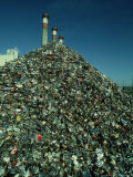 Metal Separated from Trash at Trash Burning Power Plant, Columbus Photographic Print by David M. Dennis