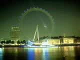 London Eye at Night, UK Photographic Print by Mike England