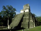 Mayan Ruins at Tikal, El Peten, Guatemala Photographic Print by Paul Franklin
