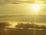 Mist Over River Spey at Sunrise, Scotland Photographic Print by Mark Hamblin