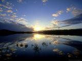 Loch Insh at Sunset, October Kincraig, Highlands, Scotland Stampa fotografica di Mark Hamblin