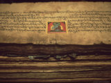 Detail of Buddhist Documents in Monastery at Jarkhot, Nepal Himalaya Photographie par William Gray