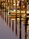 Boats and Reflections, Crescent City, California Photographic Print by Adam Jones