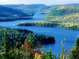 Lake Wapizagonke in Early Autumn, Quebec, Canada Photographic Print by Philippe Henry