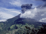 Tungurahua Volcano Erupting, Andes, Ecuador Photographic Print by Mark Jones